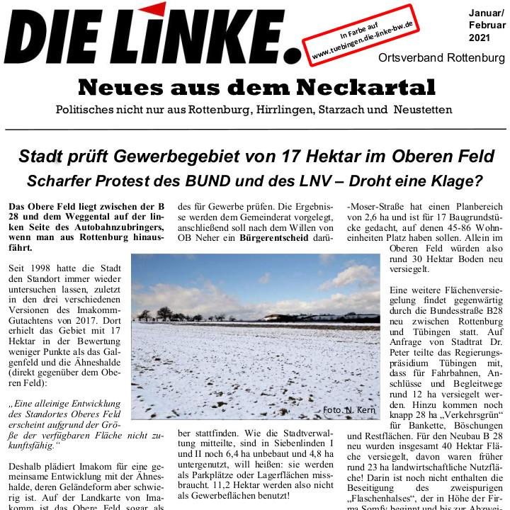 Neues aus dem Neckartal Februar 2021