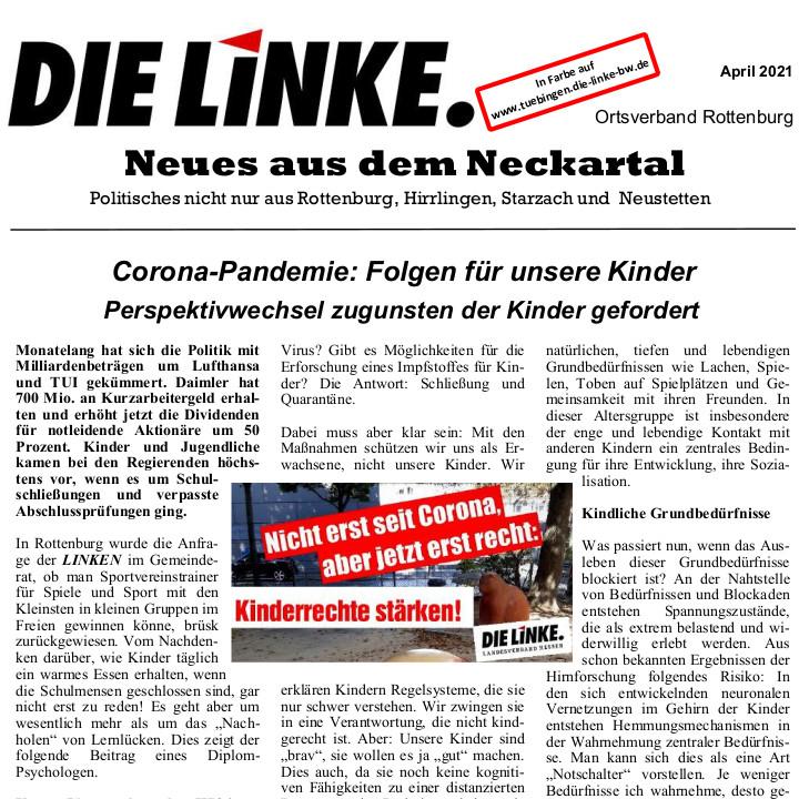 Neues aus dem Neckartal April 2021