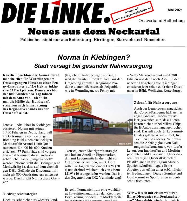 Neues aus dem Neckartal Mai 2021