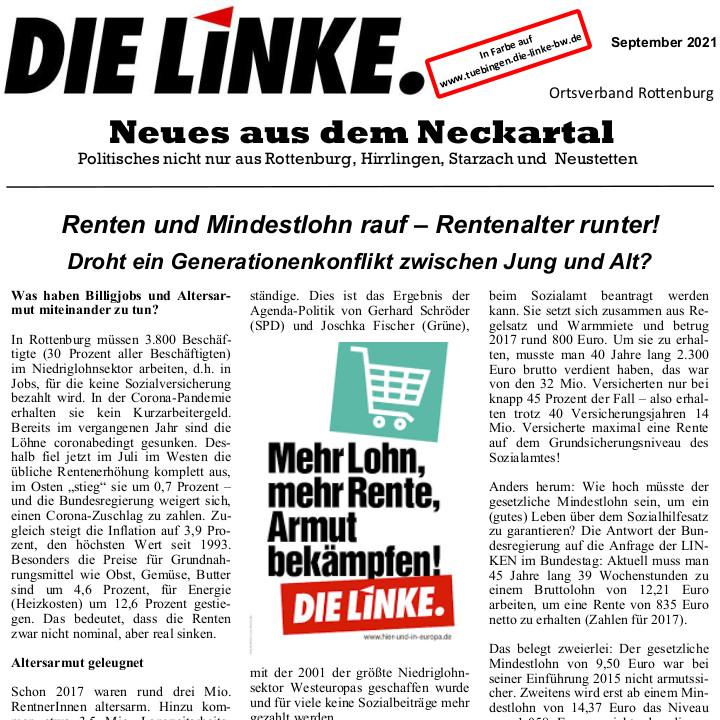 Neues aus dem Neckartal September 2021
